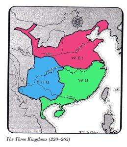 Three Kingdoms map