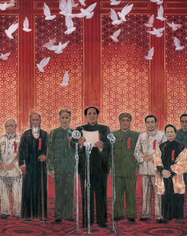 Tang-Yongli-The-Birth-of-New-China-detail-from-the-left-Li-Jishen-Zhang-Lan-Liu-Shaoqi-Mao-Zedong-Zhu-De-Zhou-Enlai-Song-Qingling-and-Gao-Gang